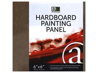 craft & hobbies: Art Advantage Hardboard Paintng Panel 6 in. x 6 in.