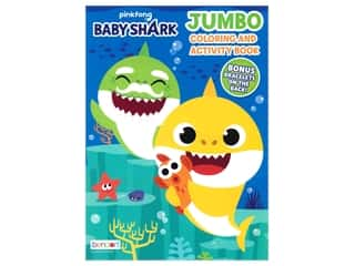 books & patterns: Bendon Jumbo Coloring Book Pink Fong Baby Shark