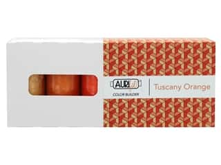 Aurifil Thread Cotton Mako 50 wt 1300 M Color Builders Tuscany Orange 3 pc