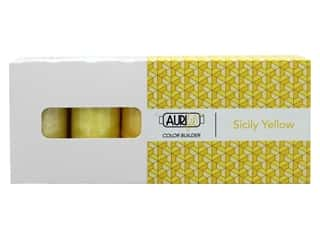 Aurifil 50 wt. Mako Cotton Color Builders - Sicily Yellow 3 pc.