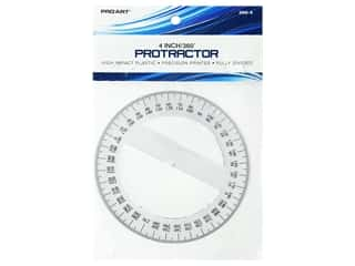 Pro Art Drafting Protractor 360 Degree 4 in. Clear