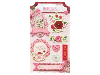 Bo Bunny Collection Count The Ways Layered Chipboard Jewel Pink