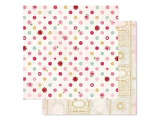 Bo Bunny Collection Count The Ways Paper 12 in. x 12 in. Kisses (25 pieces)