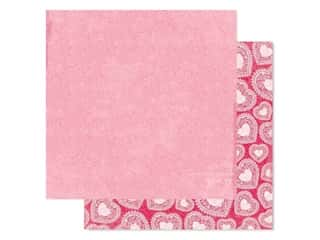 scrapbooking & paper crafts: Bo Bunny Collection Count The Ways Paper 12 in. x 12 in. Valentine (25 pieces)