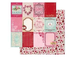 Bo Bunny Collection Count The Ways Paper 12 in. x 12 in. Be Mine (25 pieces)