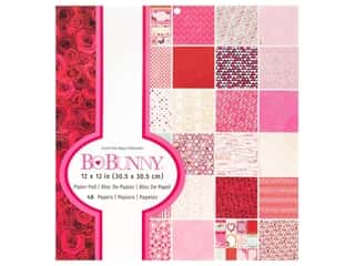 scrapbooking & paper crafts: Bo Bunny Collection Count The Ways Paper Pad 12 in. x 12 in.