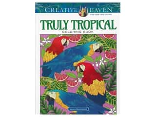 books & patterns: Dover Publications Creative Haven Truly Tropical Coloring Book