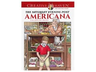 Dover Publications Creative Haven The Saturday Evening Post Americana Coloring Book