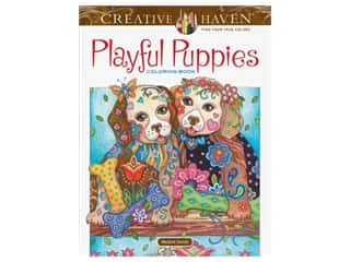 books & patterns: Dover Publications Creative Haven Playful Puppies Coloring Book