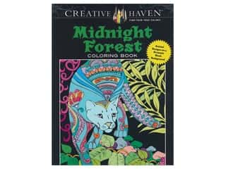 books & patterns: Dover Publications Creative Haven Midnight Forest Coloring Book