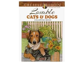 books & patterns: Dover Publications Creative Haven Lovable Cats And Dogs Coloring Book