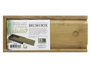 Art Advantage Brush Box Bamboo 9.88 in. x 1.88 in. x 4.38 in.