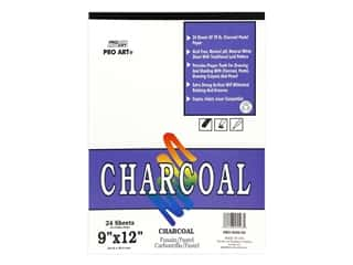 Pro Art White Charcoal Pad 9 in. x 12 in.  70 lb Acid Free 24 pc