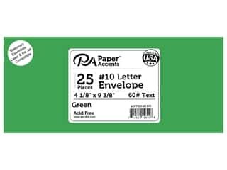 scrapbooking & paper crafts: Paper Accents 4 x 9 1/4 in. Letter Envelopes 25 pc. #102 Green