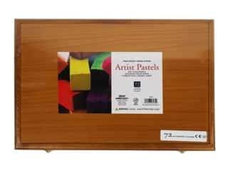 Pro Art Mark Artist Pastel Set Square 72 Color Wood Box
