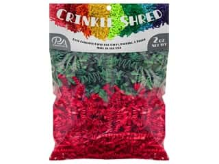 craft & hobbies: PA Essentials Crinkle Shred 2 oz. Red/Green