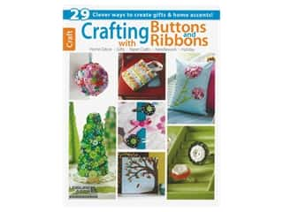 beading & jewelry making supplies: Leisure Arts Crafting With Buttons & Ribbons Book