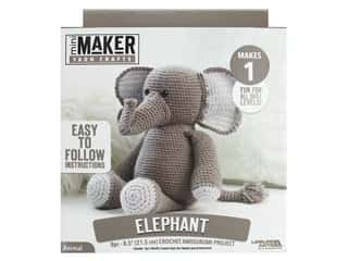 yarn & needlework: Leisure Arts Mini Maker Amigurumi Kit - Elephant