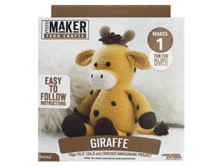 yarn & needlework: Leisure Arts Mini Maker Amigurumi Kit - Giraffe