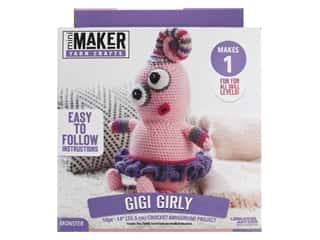 Leisure Arts Mini Maker Crochet Kit - Amigurumi Gigi Girly