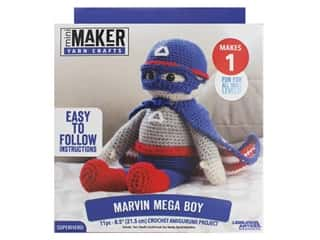 yarn & needlework: Leisure Arts Mini Maker Amigurumi Kit - Marvin Mega Boy