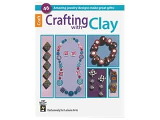 beading & jewelry making supplies: Leisure Arts Crafting With Clay Book