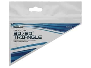 Pro Art Triangle 6 in. Finger Lift 30/60 Degree Clear