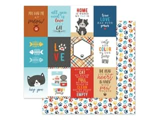Echo Park 12 x 12 in. Paper I Love My Cat - Journal Card 3 x 4 in. (25 pieces)