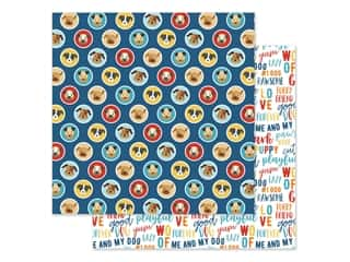 Echo Park Collection I Love My Dog Paper 12 in. x 12 in. Puppy Love (25 pieces)