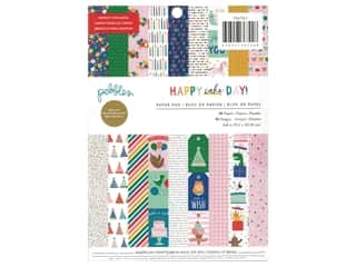 Pebbles Collection Happy Cake Day Paper Pad 6 in. x 8 in.