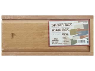 Pro Art Wood Brush Box 10.5 in. x 4 in. x 1.25 in.