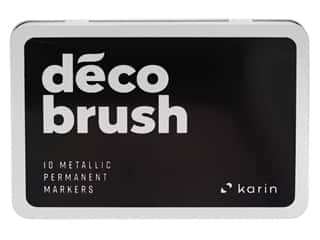 craft & hobbies: Karin DecoBrush Marker Metallic Permanent Set 10 pc