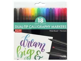 art, school & office: Leisure Arts Dual-Tip Calligraphy Markers 18 pc.
