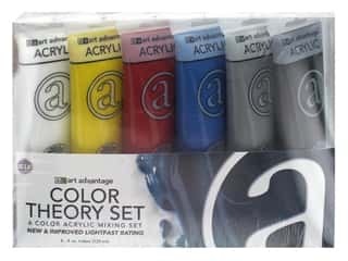 Art Advantage Acrylic Paint Set 4 oz. Primary Mix