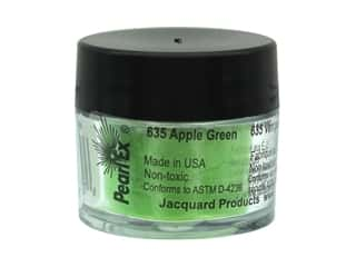 craft & hobbies: Jacquard Pearl-Ex Pigment 0.11 oz. Apple Green