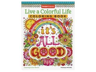 Design Originals Live A Colorful Life Coloring Book