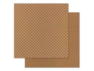 Doodlebug 12 x 12 in. Paper Petite Prints Gingham Linen Maple (25 sheets)