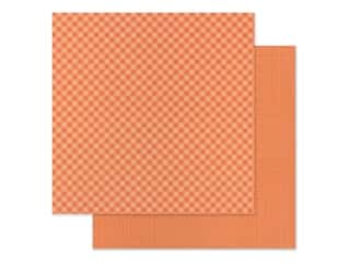 Doodlebug 12 x 12 in. Paper Petite Prints Gingham Linen Coral (25 sheets)