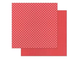 Doodlebug 12 x 12 in. Paper Petite Prints Gingham Linen Ladybug (25 sheets)