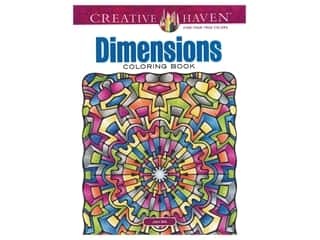 books & patterns: Dover Publications Creative Haven Dimensions Coloring Book