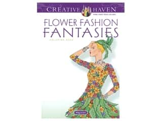 books & patterns: Dover Publications Creative Haven Flower Fashion Fantasies Coloring Book
