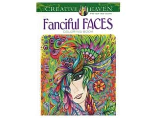 books & patterns: Dover Publications Creative Haven Fanciful Faces Coloring Book
