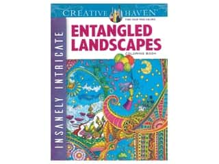 Dover Publications Creative Haven Entangled Landscapes Coloring Book