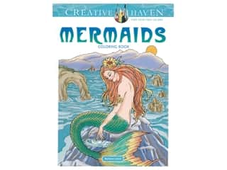 books & patterns: Dover Publications Creative Haven Mermaids Coloring Book