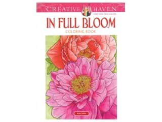 books & patterns: Dover Publications Creative Haven In Full Bloom Coloring Book