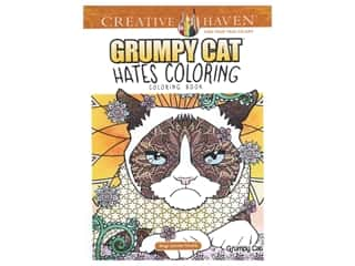 books & patterns: Dover Publications Creative Haven Grumpy Cat Hates Coloring Book