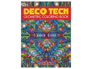 Dover Publications Deco Tech Gemoetric Coloring Book