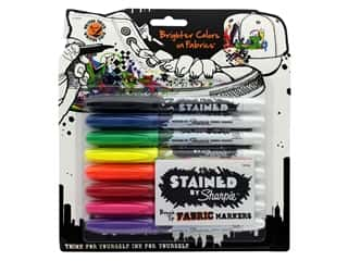 Sharpie Stained Fabric Marker Set Brush Tip 8 pc