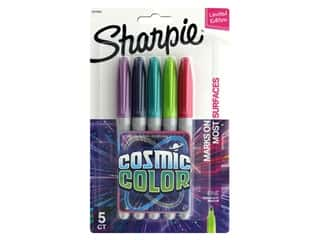 Sharpie Marker Set Permanent Fine Point Cosmic Colors 5 pc