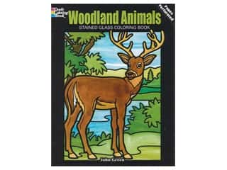 books & patterns: Dover Publications Woodland Animals Stained Glass Coloring Book